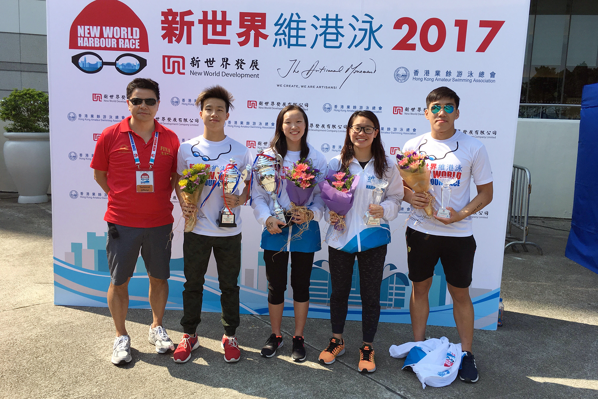 Win Tin Swimming Club - 2017 New World Harbour Race 1
