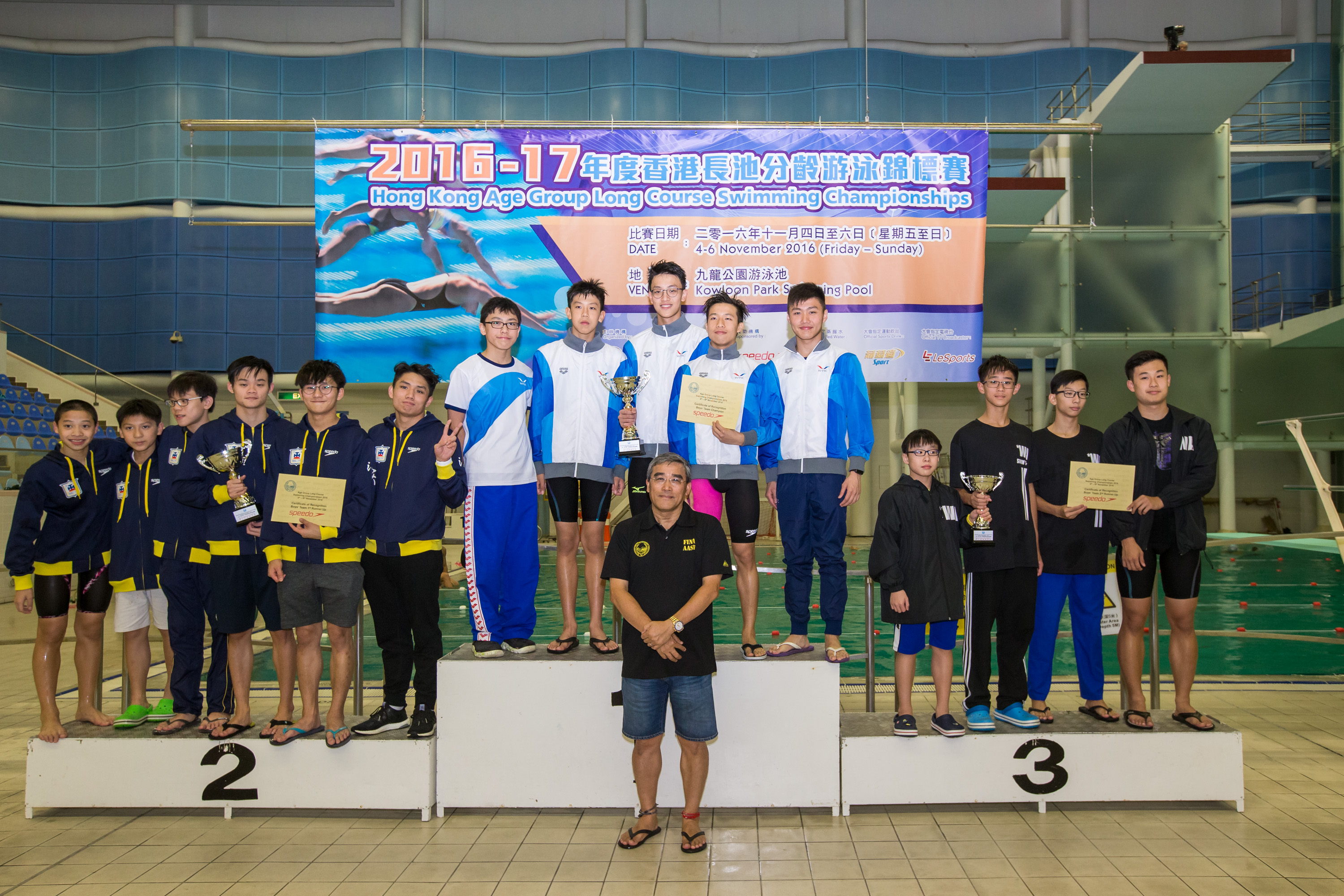 Win Tin Swimming Club - 2016 LCC Boys Team Championship